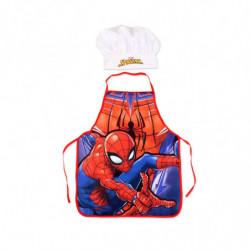 Ensemble Tablier de cuisine et Chapeau Spiderman