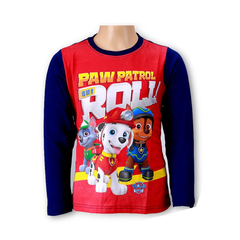 Pat Patrouille Tee Shirt gar/çon Manches Longues Gris